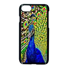Graphic Painting Of A Peacock Apple Iphone 7 Seamless Case (black) by Simbadda