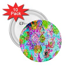 Bright Rainbow Background 2 25  Buttons (10 Pack)  by Simbadda