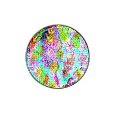 Bright Rainbow Background Hat Clip Ball Marker (4 Pack) by Simbadda
