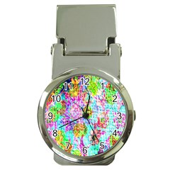 Bright Rainbow Background Money Clip Watches by Simbadda