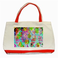 Bright Rainbow Background Classic Tote Bag (red) by Simbadda