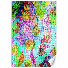 Bright Rainbow Background Canvas 12  X 18   by Simbadda