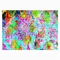 Bright Rainbow Background Large Glasses Cloth by Simbadda