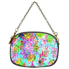 Bright Rainbow Background Chain Purses (one Side)  by Simbadda