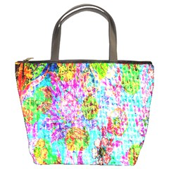Bright Rainbow Background Bucket Bags by Simbadda
