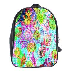 Bright Rainbow Background School Bags(large)  by Simbadda