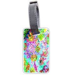 Bright Rainbow Background Luggage Tags (one Side)  by Simbadda