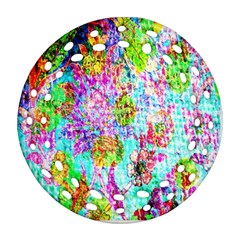 Bright Rainbow Background Round Filigree Ornament (two Sides) by Simbadda