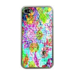 Bright Rainbow Background Apple Iphone 4 Case (clear) by Simbadda