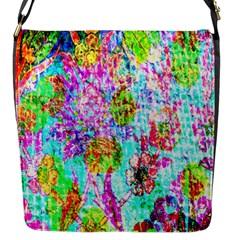 Bright Rainbow Background Flap Messenger Bag (s) by Simbadda