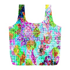 Bright Rainbow Background Full Print Recycle Bags (l)  by Simbadda