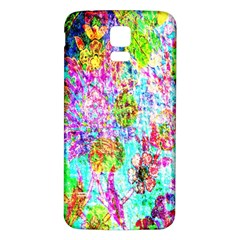 Bright Rainbow Background Samsung Galaxy S5 Back Case (white) by Simbadda