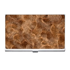 Brown Seamless Animal Fur Pattern Business Card Holders by Simbadda