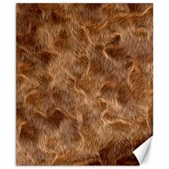 Brown Seamless Animal Fur Pattern Canvas 8  X 10  by Simbadda