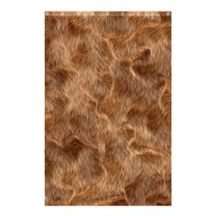 Brown Seamless Animal Fur Pattern Shower Curtain 48  X 72  (small)  by Simbadda