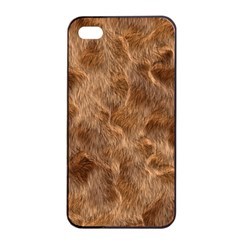 Brown Seamless Animal Fur Pattern Apple Iphone 4/4s Seamless Case (black) by Simbadda