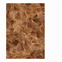 Brown Seamless Animal Fur Pattern Small Garden Flag (two Sides) by Simbadda