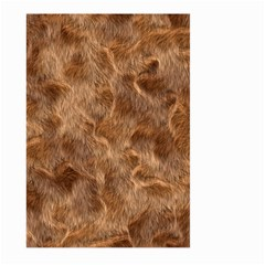 Brown Seamless Animal Fur Pattern Large Garden Flag (two Sides) by Simbadda