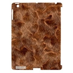 Brown Seamless Animal Fur Pattern Apple Ipad 3/4 Hardshell Case (compatible With Smart Cover) by Simbadda