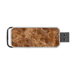 Brown Seamless Animal Fur Pattern Portable Usb Flash (two Sides) by Simbadda