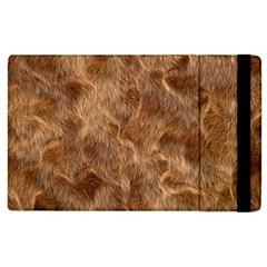 Brown Seamless Animal Fur Pattern Apple Ipad 3/4 Flip Case by Simbadda