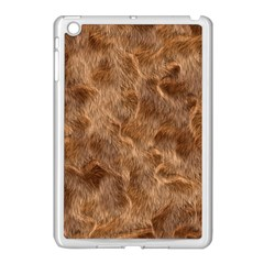 Brown Seamless Animal Fur Pattern Apple Ipad Mini Case (white) by Simbadda