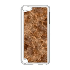Brown Seamless Animal Fur Pattern Apple Ipod Touch 5 Case (white) by Simbadda