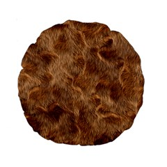 Brown Seamless Animal Fur Pattern Standard 15  Premium Round Cushions by Simbadda