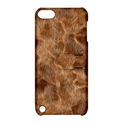 Brown Seamless Animal Fur Pattern Apple Ipod Touch 5 Hardshell Case With Stand by Simbadda
