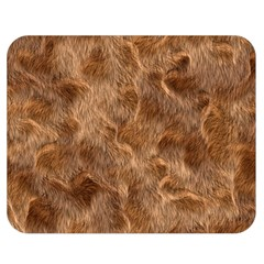 Brown Seamless Animal Fur Pattern Double Sided Flano Blanket (medium)  by Simbadda