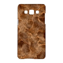 Brown Seamless Animal Fur Pattern Samsung Galaxy A5 Hardshell Case  by Simbadda