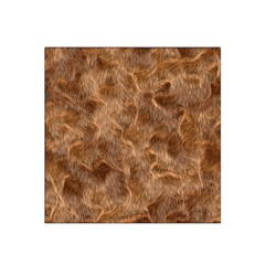 Brown Seamless Animal Fur Pattern Satin Bandana Scarf by Simbadda