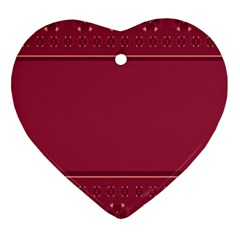 Heart Pattern Background In Dark Pink Heart Ornament (two Sides) by Simbadda