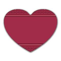Heart Pattern Background In Dark Pink Heart Mousepads by Simbadda