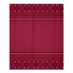 Heart Pattern Background In Dark Pink Shower Curtain 60  X 72  (medium)  by Simbadda