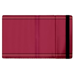 Heart Pattern Background In Dark Pink Apple Ipad 3/4 Flip Case by Simbadda