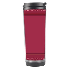 Heart Pattern Background In Dark Pink Travel Tumbler by Simbadda