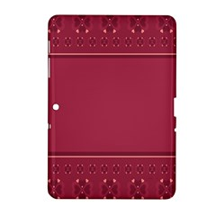 Heart Pattern Background In Dark Pink Samsung Galaxy Tab 2 (10 1 ) P5100 Hardshell Case  by Simbadda