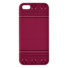 Heart Pattern Background In Dark Pink Iphone 5s/ Se Premium Hardshell Case by Simbadda