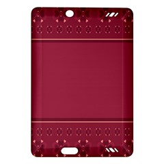 Heart Pattern Background In Dark Pink Amazon Kindle Fire Hd (2013) Hardshell Case by Simbadda