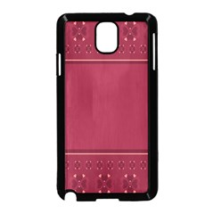Heart Pattern Background In Dark Pink Samsung Galaxy Note 3 Neo Hardshell Case (black) by Simbadda
