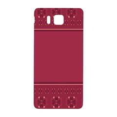 Heart Pattern Background In Dark Pink Samsung Galaxy Alpha Hardshell Back Case by Simbadda