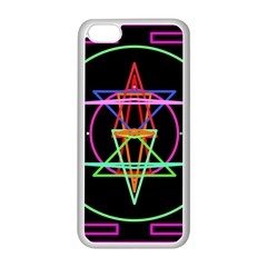 Drawing Of A Color Mandala On Black Apple Iphone 5c Seamless Case (white) by Simbadda
