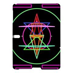 Drawing Of A Color Mandala On Black Samsung Galaxy Tab S (10 5 ) Hardshell Case  by Simbadda