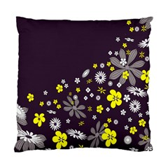 Vintage Retro Floral Flowers Wallpaper Pattern Background Standard Cushion Case (two Sides) by Simbadda