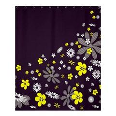 Vintage Retro Floral Flowers Wallpaper Pattern Background Shower Curtain 60  X 72  (medium)  by Simbadda