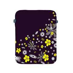 Vintage Retro Floral Flowers Wallpaper Pattern Background Apple Ipad 2/3/4 Protective Soft Cases by Simbadda