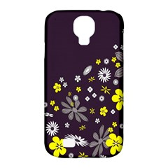 Vintage Retro Floral Flowers Wallpaper Pattern Background Samsung Galaxy S4 Classic Hardshell Case (pc+silicone) by Simbadda