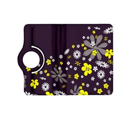 Vintage Retro Floral Flowers Wallpaper Pattern Background Kindle Fire Hd (2013) Flip 360 Case by Simbadda