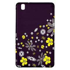 Vintage Retro Floral Flowers Wallpaper Pattern Background Samsung Galaxy Tab Pro 8 4 Hardshell Case by Simbadda